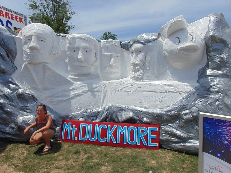 Kaylee Remington - The Morning Journal<br /> University of Cincinnati students created Duck Tape artwork which was displayed around Veterans Memorial Park. The 13th Annual Avon Heritage Duck Tape Festival was held June 17 to June 19. About 60,000 were expected to attend the popular event.