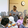 Nancie Richardson stands up and speaks on how she is more than frustrated with the DeKalb school board. Ms Richardson feels that she got a letter stating she is not in the school district boundaries because of her race, even though she has had multiple kids graduate from the DeKalb school district and as still have kids who go to school in the district.
