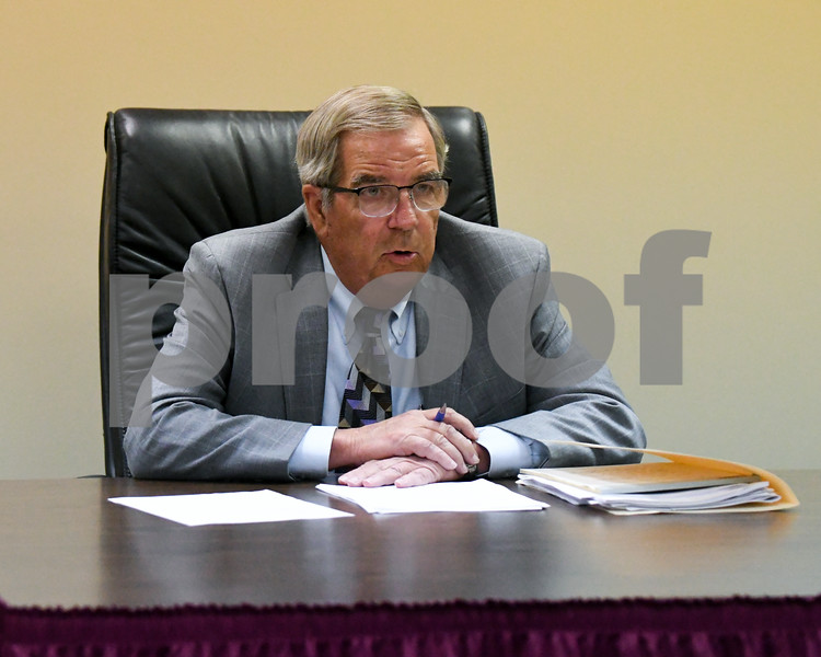 Tom Lester gives updates on the residency lawsuit during the June 19th school board meeting with DeKalb school district.