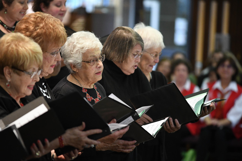 . Eric Bonzar � The Morning Journal <br> Members of the St. Peter Parish choir perform during the 41st annual Heritage of Sacred Music Concert, June 20, 2017. The concert, held at St. Peter Parish, 3655 Oberlin Ave, Lorain, was presented by the Lorain International Association.