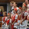 Eric Bonzar — The Morning Journal <br> Members of the Lorain Hungarian Folklore Group perform during the 41st annual Heritage of Sacred Music Concert, June 20, 2017. The concert, held at St. Peter Parish, 3655 Oberlin Ave, Lorain, was presented by the Lorain International Association.