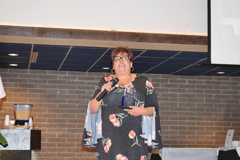 . Briana Contreras - The Morning Journal <br>  The Lorain International Association honored Terri and Rick Soto for their outstanding contributions to the Association and festival for years during the Annual International Festival Breakfast on June 20 at German\'s Villa in Vermilion. Soto accepted the award on behalf of herself and husband who was unable to make the event. She quipped that her daughters never knew what a vacation was in the summer, except for visits to Black River Landing for the International Festival.