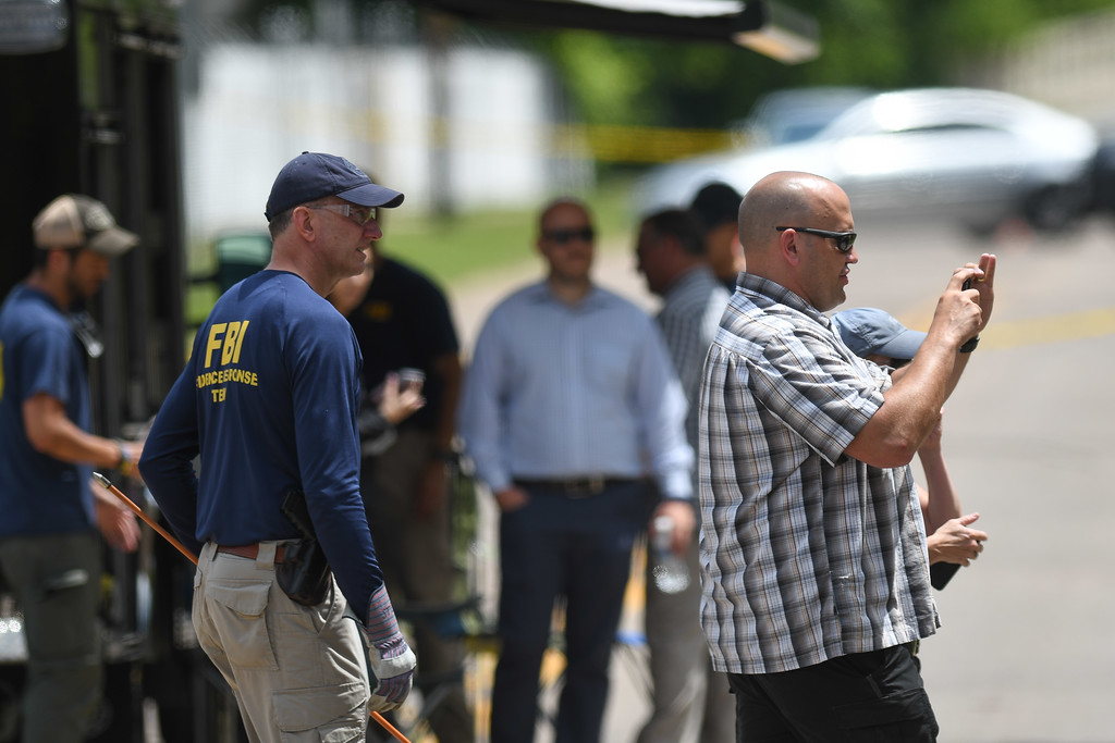 . Eric Bonzar�The Morning Journal <br> FBI agents, Middleburg Heights police, and Elyria police search a wooded area near Mussey Avenue in Elyria, in connection with the March 2015 disappearance of Middleburg Heights resident Tierra Bryant, who was 19 years old at the time she went missing.