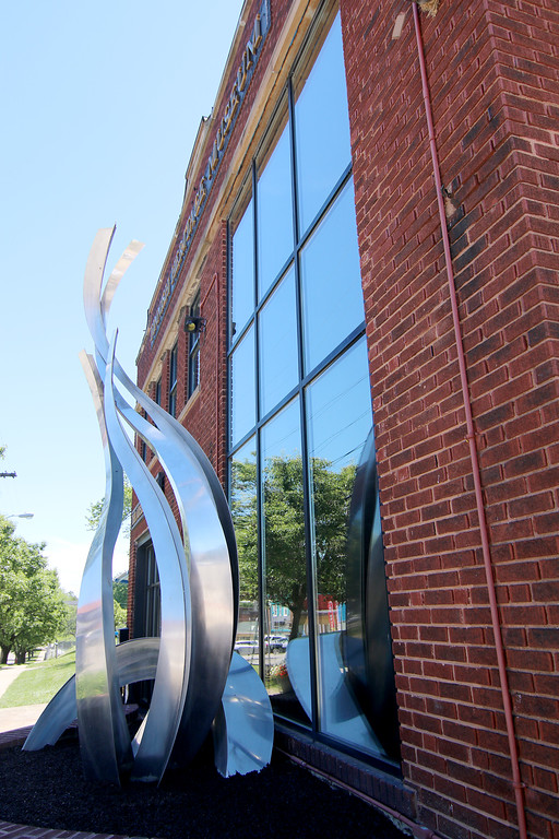 . Jonathan Tressler � The News-Herald <br> The Spirit of Finland Sculpture by artist Ken Valimaki has a prominent place in front of the Finnish Heritage Museum. 301 High St. in Fairport Harbor.