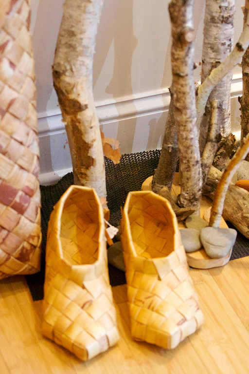 . Jonathan Tressler � The News-Herald <br> Some examples of birch-tree craftsmanship inside the Finnish Heritage Museum in Fairport Harbor.