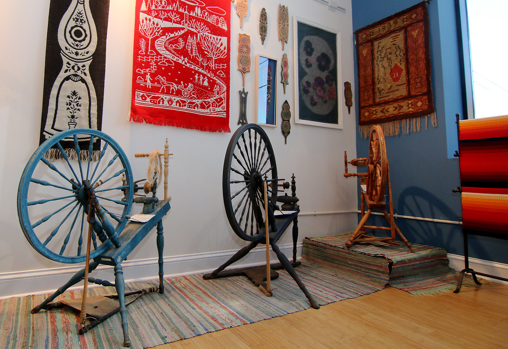 . Jonathan Tressler � The News-Herald <br> Part of the textile exhibit inside the Finnish Heritage Museum in Fairport Harbor.
