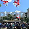 Katrina J.E. Milton - kmilton@shawmedia.com<br /> Red, white and blue balloons are released by Les Bellah's grandchildren during his celebration of life Saturday at Franklin Township Park in Kirkland. Sixty-eight balloons, one for each year of his life, were released by his grandchildren. Bellah, who served as the Kirkland Village President from 1997-2005 and from 2008-2017, passed away on Sunday, June 4.