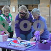 Deanna Frances for Shaw Media<br /> Carol Evans, 80, of Sycamore, left to right, Donna Weber, 54, of Sycamore, and Arlene Lothson, 92, of DeKalb view silent auction items at Relay for Life DeKalb County on Saturday at Sycamore High School, 427 Spartan Trail.