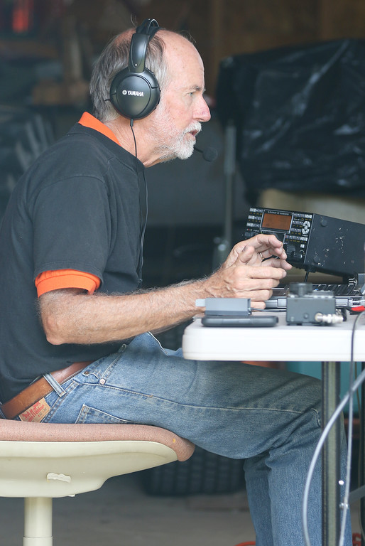 . Jonathan Tressler - The News-Herald. Orange Village resident Jim Stahl communicates over a ham-radio setup inside a barn on friend Jim Stahl�s Huntsburg Township property during the last hour of the American Radio Relay League�s 24-hour 2018 Field Day Exercise on June 24.
