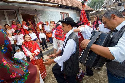 Europe, Romania, Transylvania, Gypsy wedding,  wedding party at bride's home