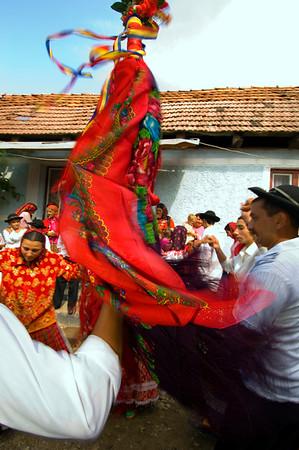 Europe, Romania, Transylvania, Gypsy wedding,  wedding party at bride's home