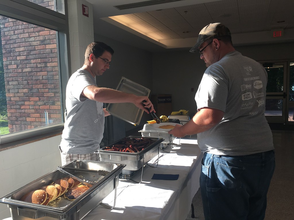 . Volunteers started the day with a Pancake breakfast at Lakeland Community College before heading out to beautify Lake County during United Way of Lake County\'s 25th annual Day of Caring on Wednesday June 28, 2017. (Submitted)