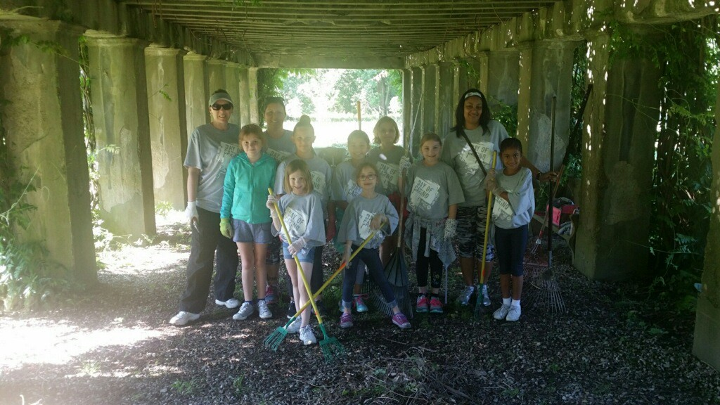 . Volunteers from Lake Health along with Girl Scouts were weeding and doing yard work for the Mooreland Historical Gardens during United Way of Lake County\'s 25th annual Day of Caring on Wednesday June 28, 2017. (Submitted)