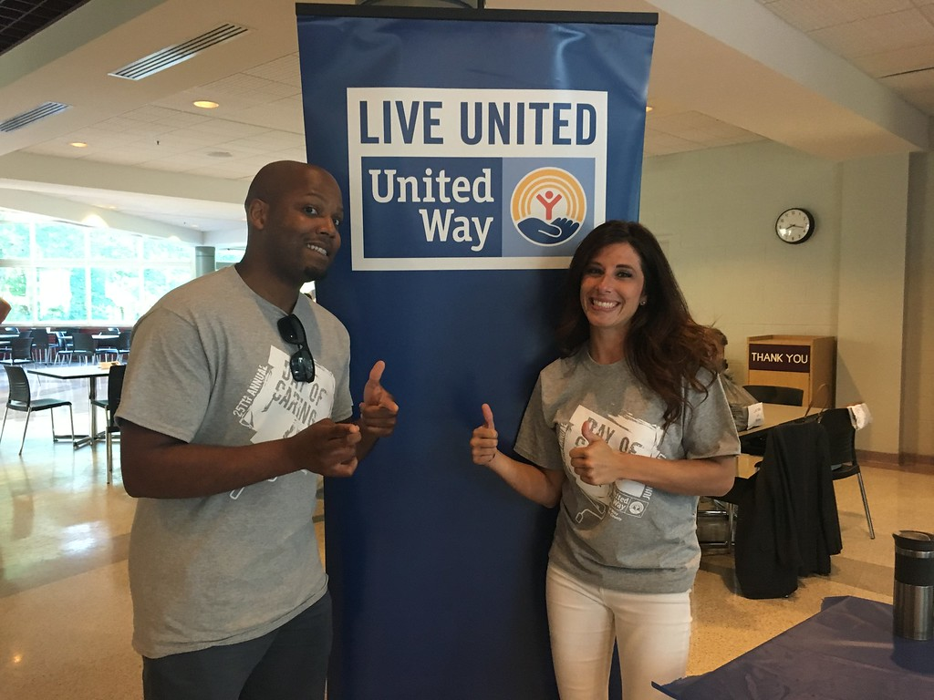 . Volunteers give a thumbs up at Lakeland Community College before heading out to work during United Way of Lake County\'s 25th annual Day of Caring on Wednesday June 28, 2017. (Submitted)