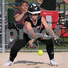 Kishwaukee Valley Storm 18U player Gracyn Gabriel lays down a bunt in tournament action on Friday in Sycamore. Steve Bittinger - For Shaw Media