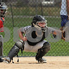 Kishwaukee Valley Storm catcher Mia Richards  receives a pitch during Storm Dayz tournament action on Sunday in Sycamore.  Steve Bittinger - For Shaw Media