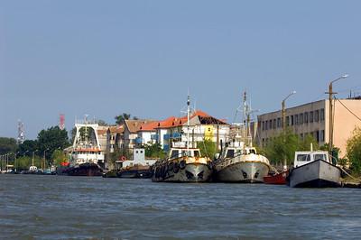 Europe, Romania, The Danube Delta, Sulina, harbour view