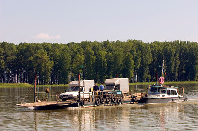 Europe, Romania, The Danube Delta, Mahmudia, car ferry