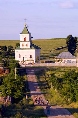 Europe, Romania, Moldavia , village scene near Cotnari