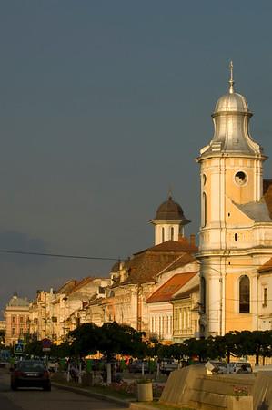 Europe, Romania, Transylvania , Cluj-Napoca, Bulevardul Eroilor, architecture