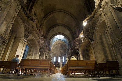 Europe, France, Provence, Avignon, Notre Dame Des Doms, interior