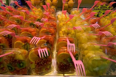 Fresh fruit on sale in Mercat de la Boqueria, Barcelona, Catalonia, Spain