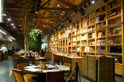 """"""" Cuines Santa Caterina """" Restaurant in Mercat Santa Caterina in Sant Pere District, Barcelona, Catalonia, Spain"""