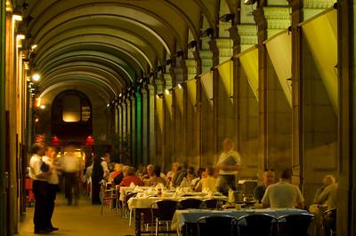 Restaurant on Placa Reial, Barri Gotic, Barcelona, Catalonia, Spain