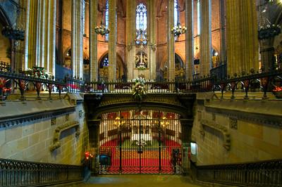 Altar and Santa Eulalia Crypt, Cathedral, Barcelona, Catalonia, Spain
