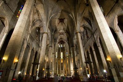 Church of Santa Maria del Mar, La Ribera, Barcelona, Catalonia, Spain