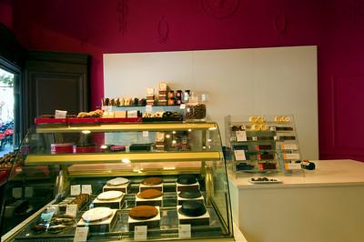 """ XOCOA "" chocolate shop on Carrer de Roger de Lluria 87, The Eixample, Barcelona, Catalonia, Spain"