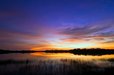 United States Of America, Florida, Everglades, sunrise over Nine Mile Pond