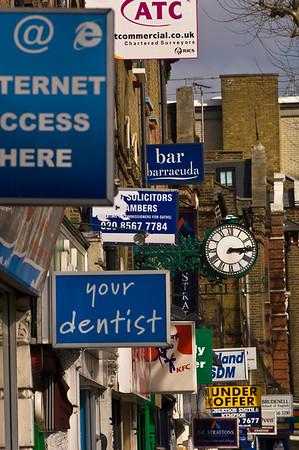 Shops on Uxbridge Road, Ealing, W5, London, United Kingdom