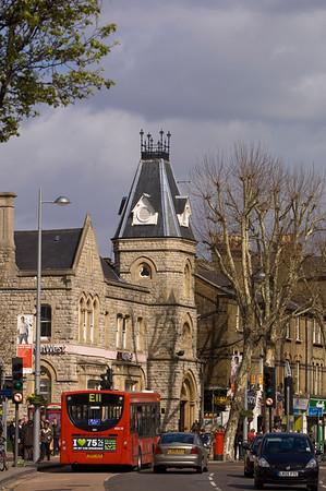 Traffic on Uxbridge Road, W5, Ealing, London, United Kingdom