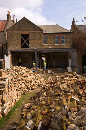 Private victorian house being rebuilt, Ealing, W5, London, United Kingdom