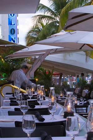 United States Of America, Florida, Miami, South Beach, Ocean Drive, restaurant