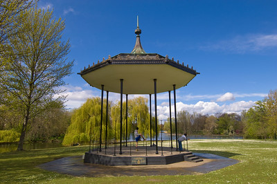 Band Stand by Boating Lake in Regent's Park, NW1, London, United Kingdom