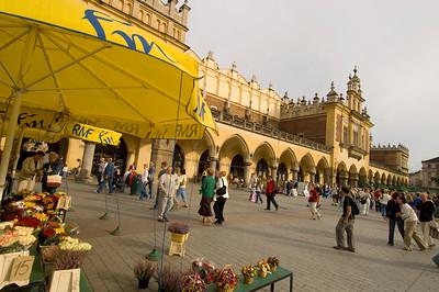 Poland, Cracow, Main Square and Sukiennice, Clothall