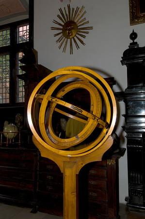 Poland, Cracow, Collegium Maius of Jagiellonian University; astronomical tools