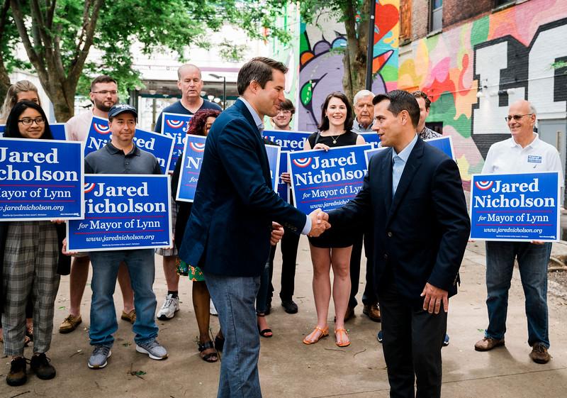 7 10 21 SRH Lynn Congressman Moulton endorses Nicholson for mayor