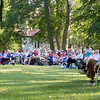 "People came from near and far to see the Cleveland Shakespeare Festival perform ""The Taming of the Shrew"" July 1 at James A. Garfield National Historic Site in Mentor. (Carrie Garland for The News-Herald)"