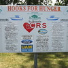 Richard Payerchin - The Morning Journal <br> This board shows the numerous people and businesses that sponsored the fourth annual Hooks for Hunger Walleye Tournament, a fundraiser for Community Resource Services. The agency seeks to alleviate poverty in Avon Lake and Avon. The tournament held July 2, 2016, in Avon Lake, was expected to raise $15,000 for CRS.