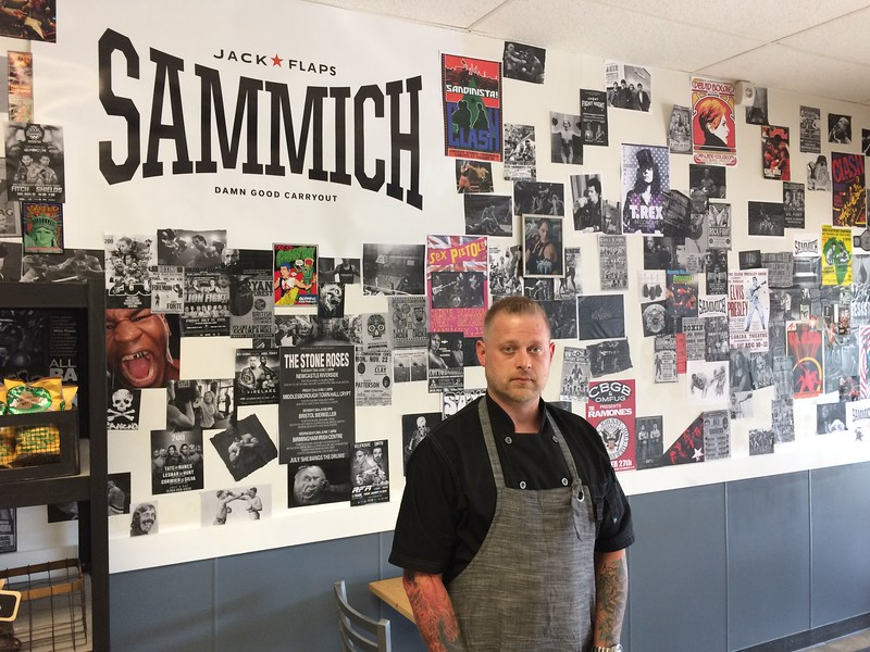 Chad Felton — The News-Herald <br> Jack Flaps chef-owner Randy Carter at his newest eatery, Sammich, located at 651 E. 185th St. on June 29.