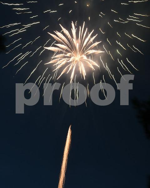 Fireworks for the July 4th celebration at Hopkins Park.