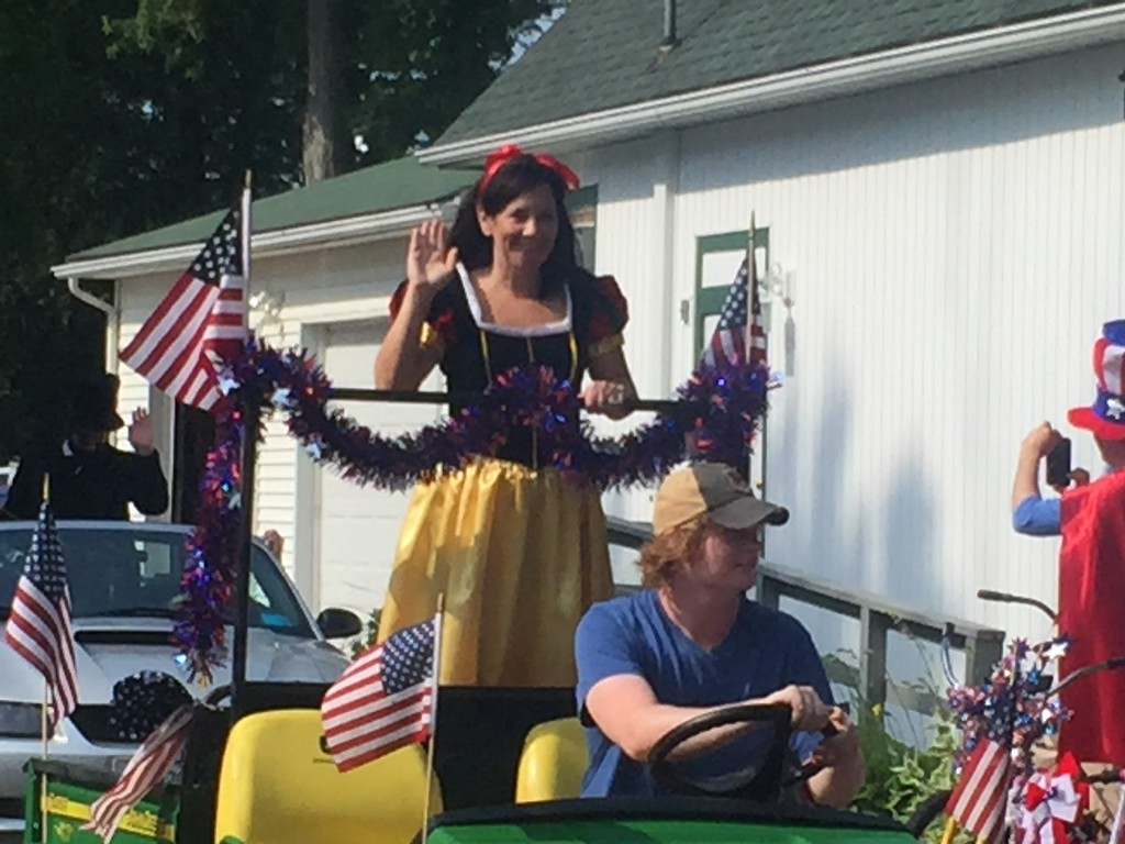 . Kevin Martin � The Morning Journal <br>  Vermilion\'s Linwood Park hosted it\'s 32nd annual Independence Day parade extravaganza. A collection of familiar characters, classic cars and the Linwood Park Marching Band rolled through the park to the delight of spectators, followed by a program.