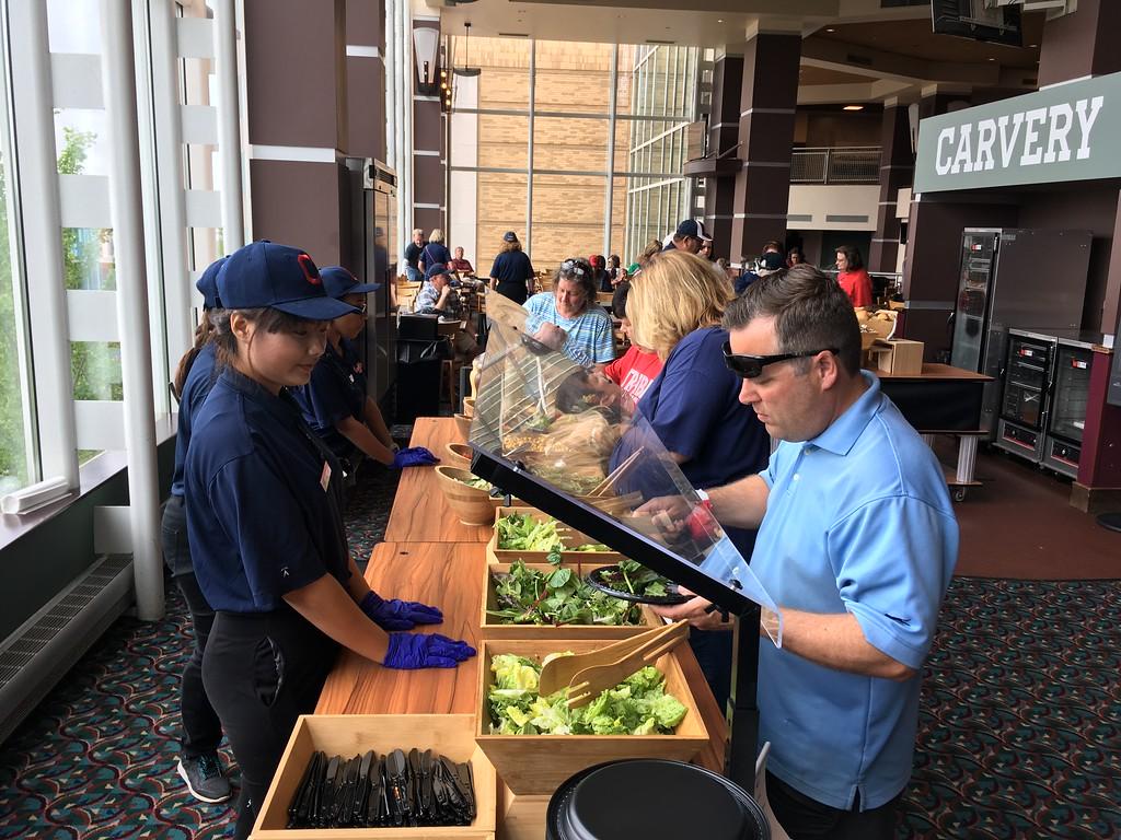 . Salad bar, Club Lounge. David S. Glasier - The News-Herald