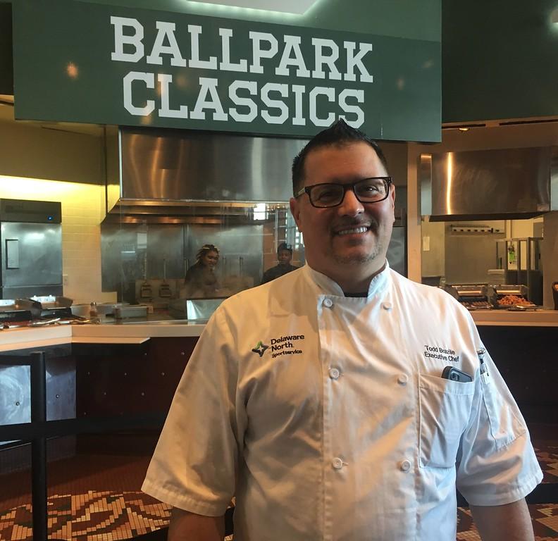 . Progressive Field ecexutive chef Todd Brazile in the Club Lounge.  David S. Glasier - The News-Herald