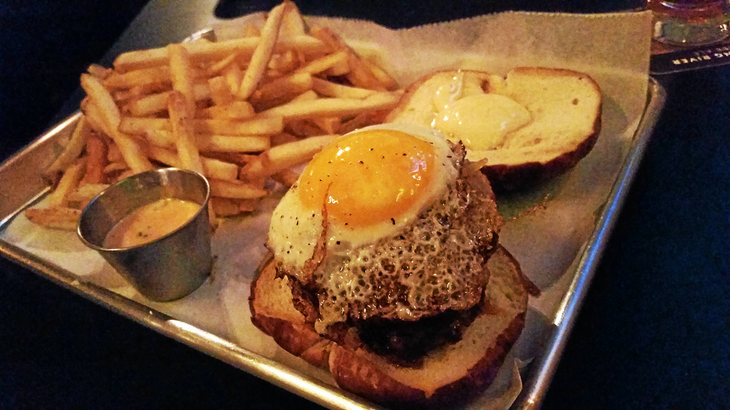 . Mark Koestner � The News-Herald The Morehouse\'s namesake sandwich brings together chorizo patties, an egg and more for a tasty but heavy item.