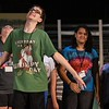 "Eric Bonzar — The Morning Journal <br> Thirteen-year-old Brian Murphy performs a musical number as one of Snow White's seven dwarfs, July 12, 2017 during a rehearsal of the Lorain Palace Youth Theater's upcoming performance of ""Shrek the Musical Jr."" The group's 40th anniversary show is 7 p.m. July 21 and 22, and 2 p.m. July 23 at Lorain Palace Theater at 617 Broadway Ave. in Lorain. General admission tickets cost $10 at the door or online at www.lorainpalace.org."