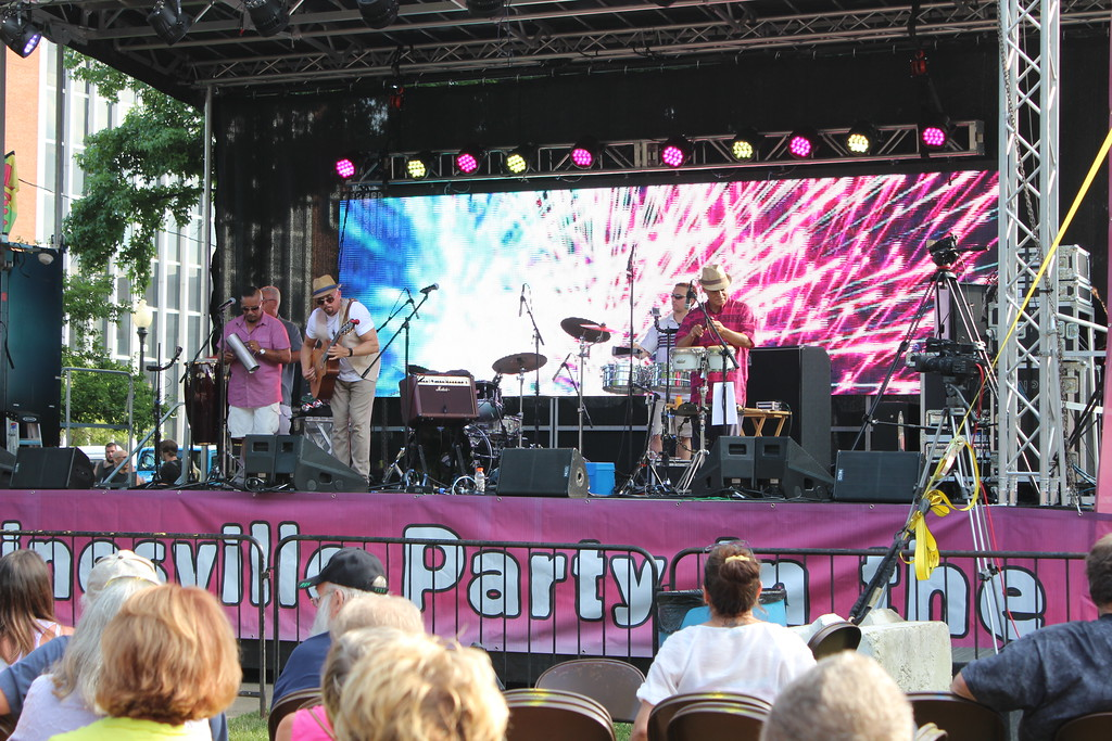 . Tawana Roberts � The News-Herald <br> Justo Saborit & Latin Soul perform at Painesville Party in the Park , July 14, 2017.